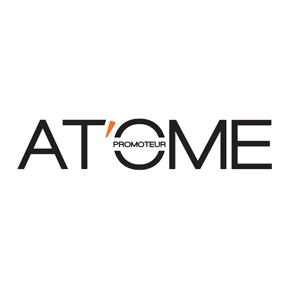 Logo PNG détouré Atome promoteur